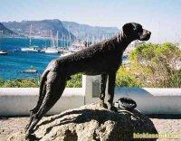 Памятник собакам-поводырям в Германии
