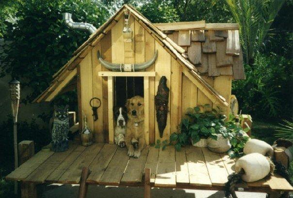 Хорошая будка для собаки своими руками